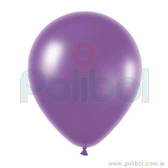 Globo N5 perlado lila