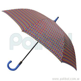 Paraguas largo estampado