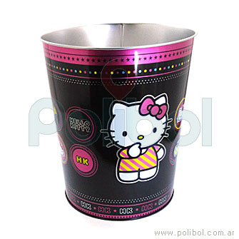 Papelero de lata Hello Kitty