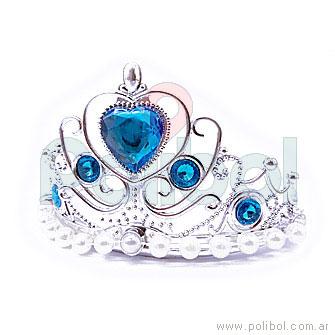 Corona plateada con perlas