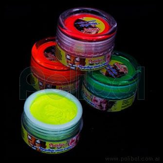Maquillaje crema al agua Color amarillo fluo 50 gr.