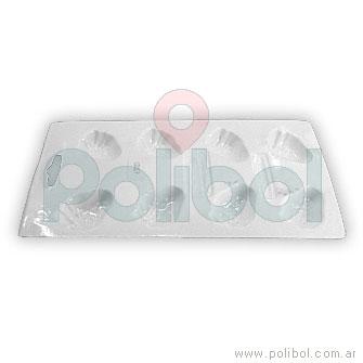 Molde plástico de frutillas x 8