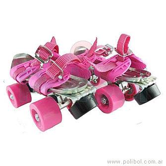 Patines de 4 ruedas rosa