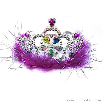 Corona con plumas y leds