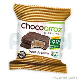 Alfajor Chocoarroz Dulce de Leche