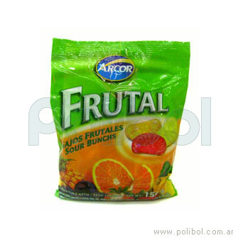 Caramelos frutales surtidos 485 gr.