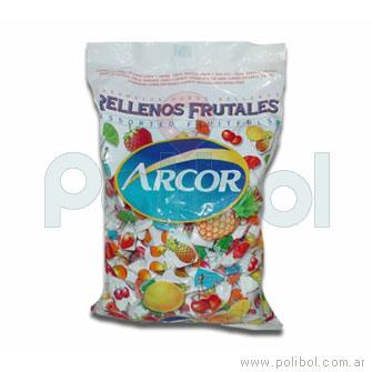 Caramelos rellenos frutales 810 gr.
