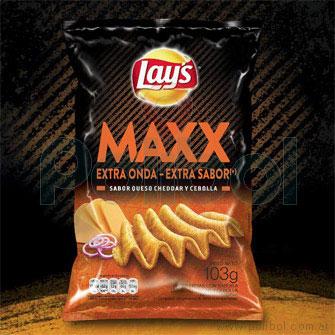 Papas sabor Cheddar y Cebolla Maxx