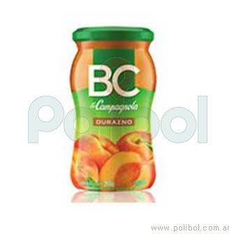Mermelada BC sabor durazno 390 gr.