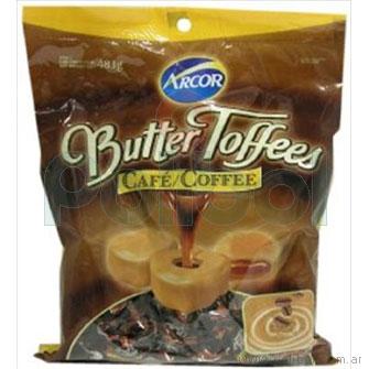 Caramelos masticables rellenos de café