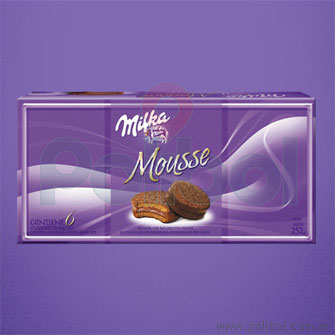 Alfajor chocolate negro con mousse