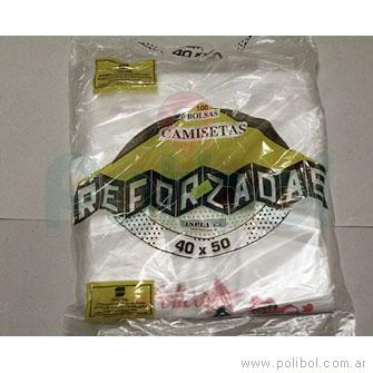 Bolsa camiseta Felices Fiestas OXI 40 x 50 cm.