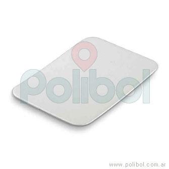 Tapa Bandeja F100 (B5) aluminio-cartón. Caja x 200 unidades