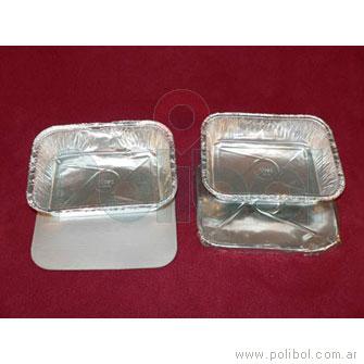 Bandeja de aluminio F75 (R3). Caja x 400 unidades.-