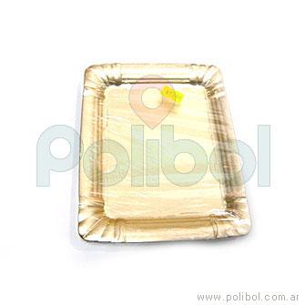 Diplomático rectangular doradas 1/4 kg.