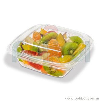 Base Ensaladera pet cristal 444 para comida fria. Caja x 600 unid