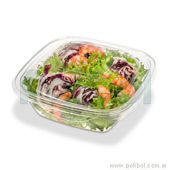 Base Ensaladera Pet cristal 445 comida fría. Caja x 600 unid.