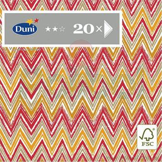 Servilletas Tissue 3 pliegos Zigzag Stripes Red