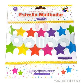 Estrella Multicolor Guirnalda