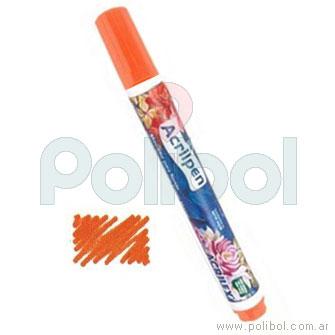 Acrilpen Marcador textil Naranja 517