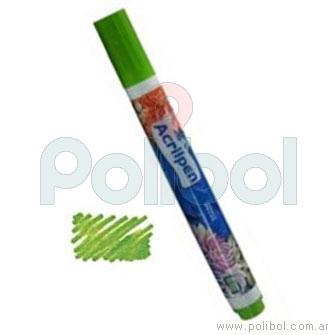 Acrilpen Marcador textil Verde hoja 510
