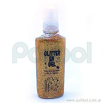 Glitter en gel dorado