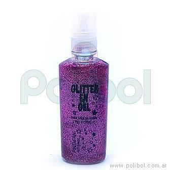 Glitter en gel fucsia