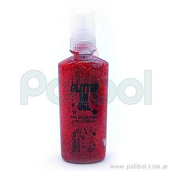 Glitter en gel rojo